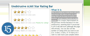 Unobtrusive AJAX Star Rating Bar