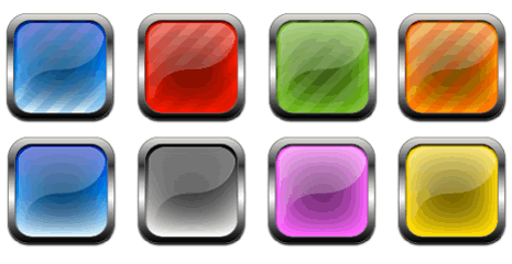 Buttons and Icons – Metal and Glass