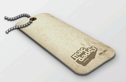 Free Buttons 3D Luggage Tag