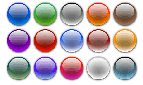 Free Vector Glass Orbs