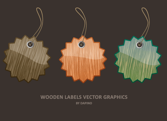 Vector Wooden Labels