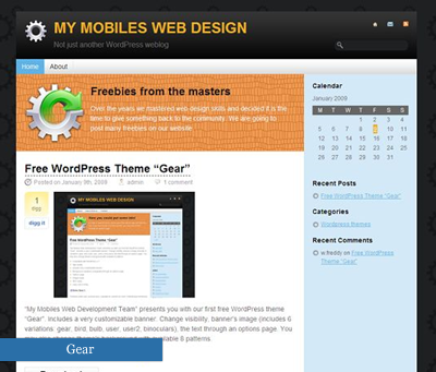 30 temi gratis, compatibili con WordPress 2.7 , wordpress  , wp27theme5