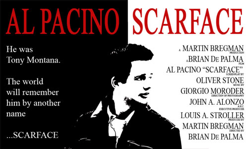 Photoshop Movie Tutorial Scarface Movie Poster