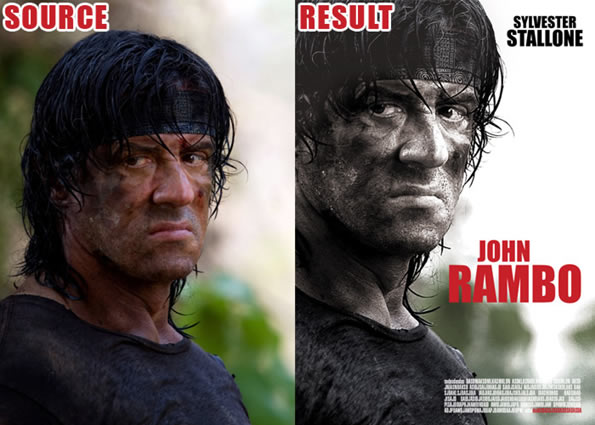 "Photoshop Movie Tutorial John Rambo"" Movie-Poster"