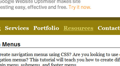 CSS Navigation and Menu Tutorials