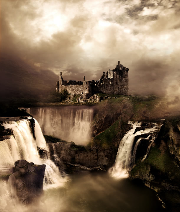 Fantasy Landscape Photo Manipulation Photoshop Tutorials