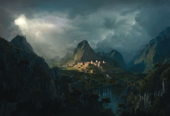 Fantasy Digital Matte Painting Photoshop Tutorials