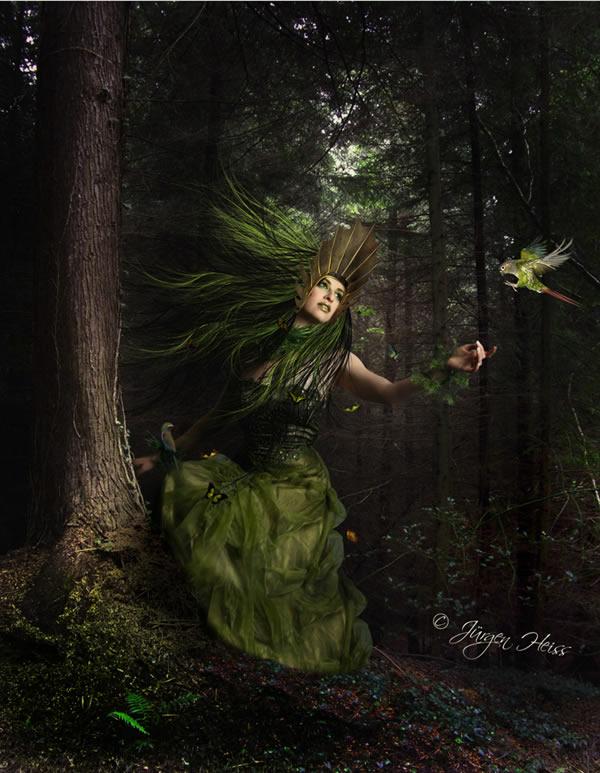 Fantasy Mother Nature Scene Photoshop Tutorials