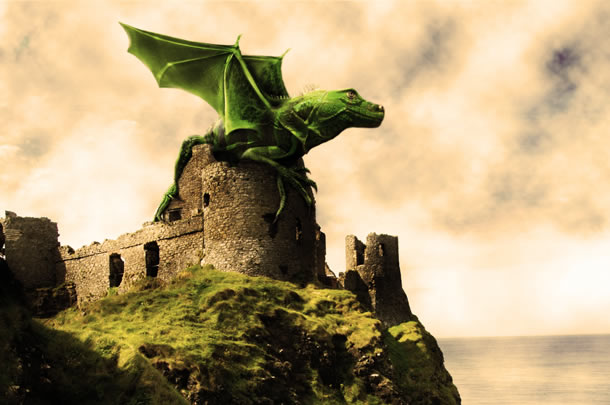 Design a Dramatic Winged Dragon Photoshop Tutorials