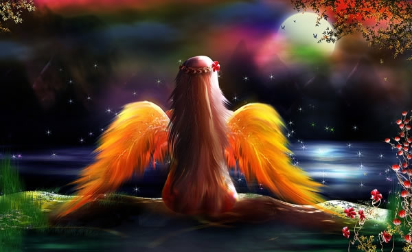 Beautiful Lonely Fantasy Fairy Photoshop Tutorials