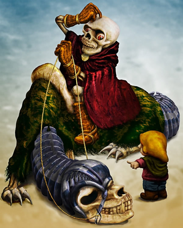 Create a Fantasy Scene with Death Photoshop Tutorials