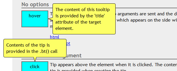 jQuery Tooltip Plugins and Tutorials