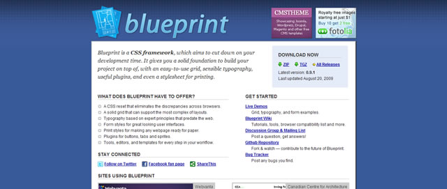 The blueprint framework tutorials how to guides and tools blueprint css framework toolbox malvernweather Gallery
