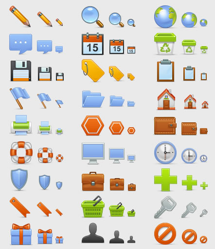 Fresh Web Design and Blogging Icon Sets