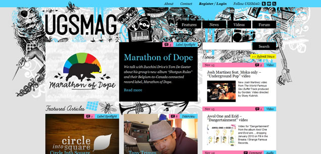 Magazine Web Design Styles