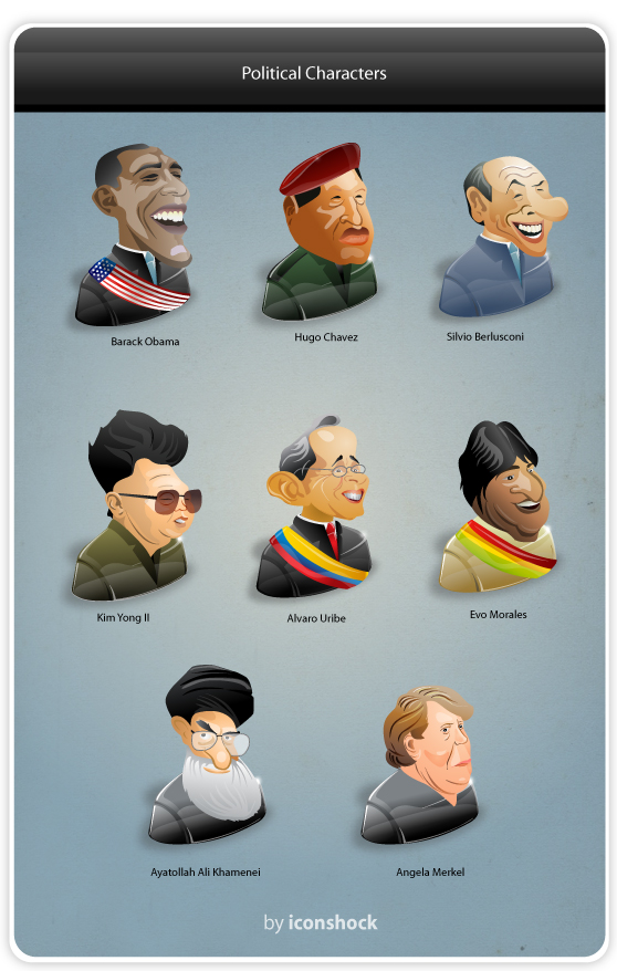 Political Characters Icon-Set