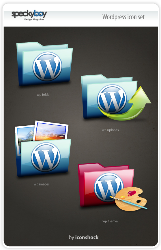 Speckyboys WordPress Folder Icon-Set