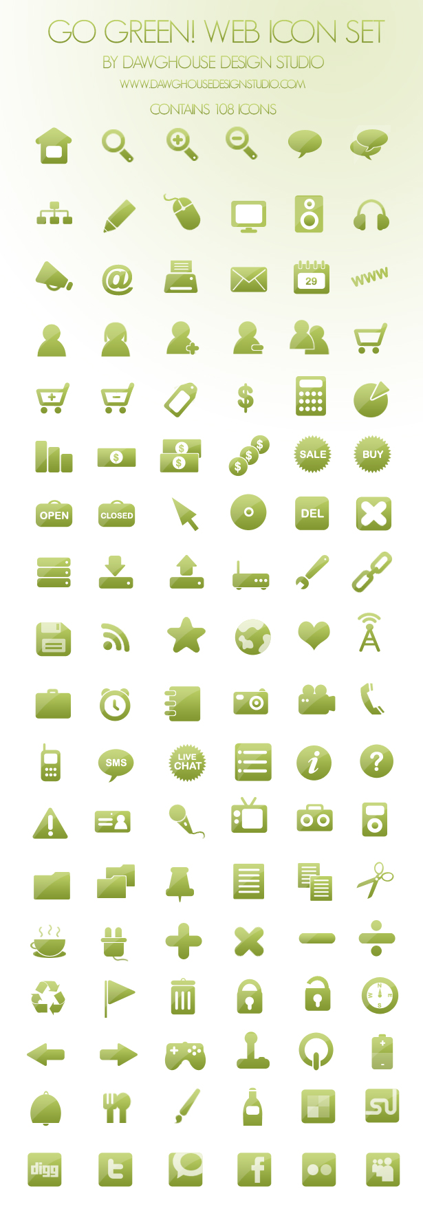 The Go Green! Web Icon Set