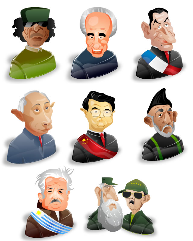 Political Characters Volume 2 Icon-Set