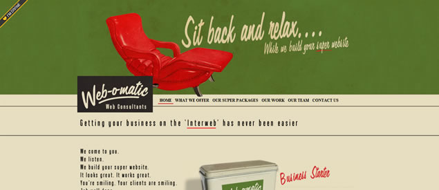 Vintage and Retro Web Design