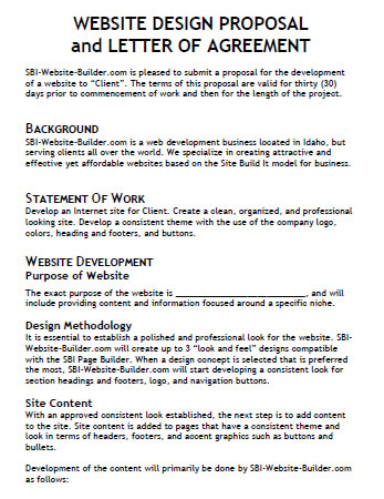What Is In A Design Proposal. Web Design Proposal Template Sample