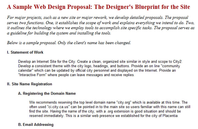 rfp website design