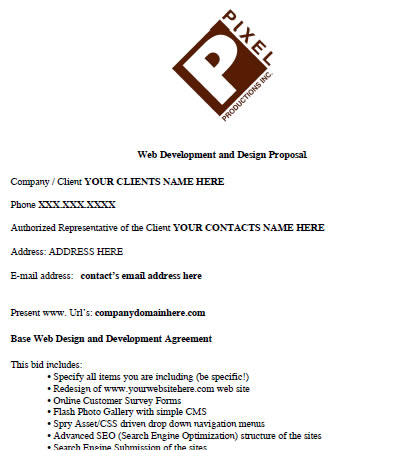free web design proposal contracts i