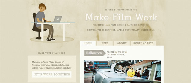 Make Film Work - Awesome Blog Designs
