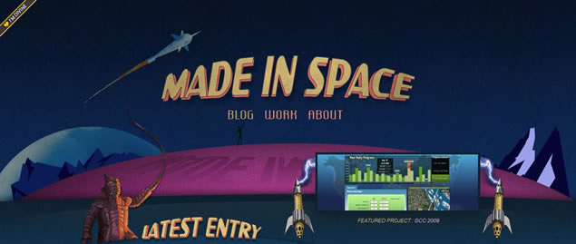 Made In Space - Awesome Blog Designs