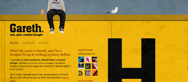 Gareth Dickey - Awesome Blog Designs