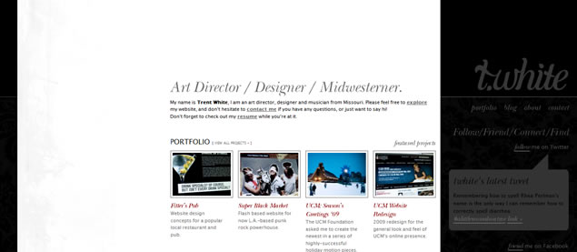 Trent White - Awesome Blog Designs
