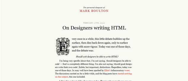 Mark Boulton - Awesome Blog Designs