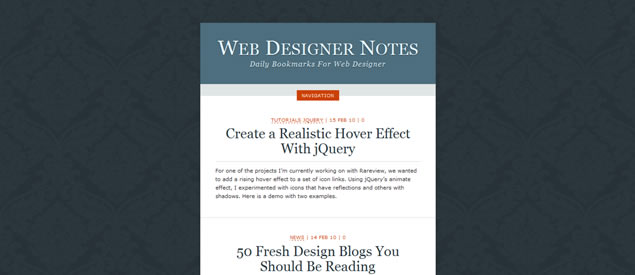 Web Designer Notes - Awesome Blog Designs