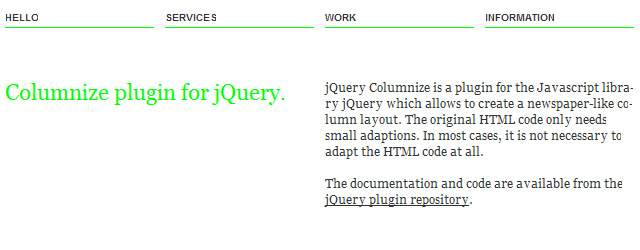jQuery Page Layout Plugins