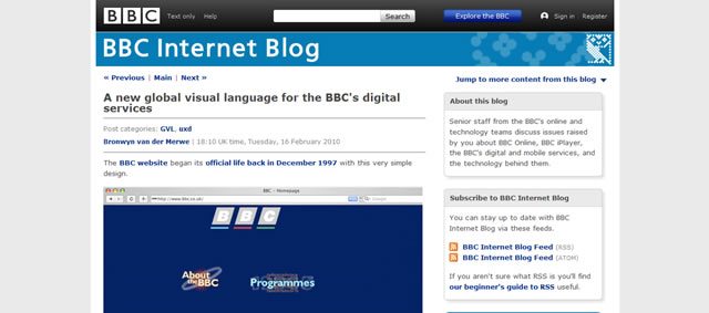 A new global visual language for the BBCs digital services)