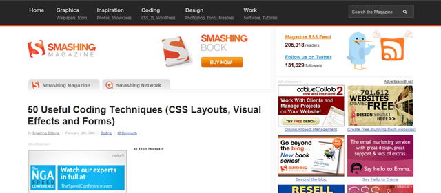50 Useful Coding Techniques (CSS Layouts, Visual Effects and Forms)
