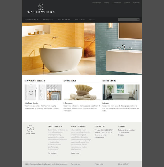 Waterworks - Awesome Blog Designs