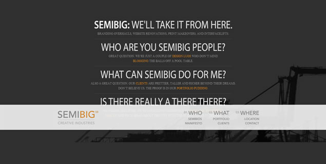 SemiBig Creative Industries - Awesome Blog Designs