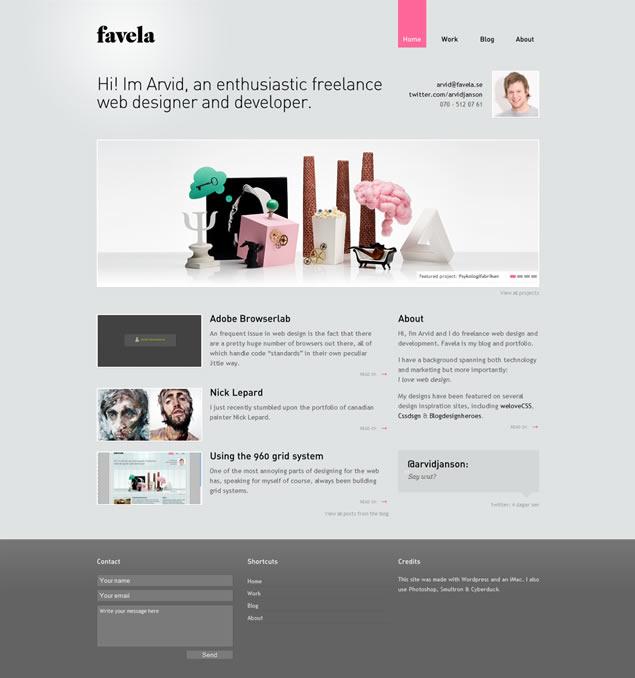 Favela - Awesome Blog Designs