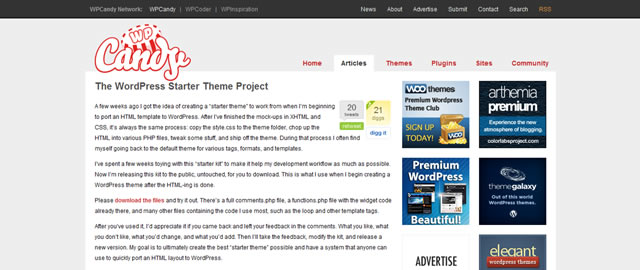 The WordPress Starter Theme Project