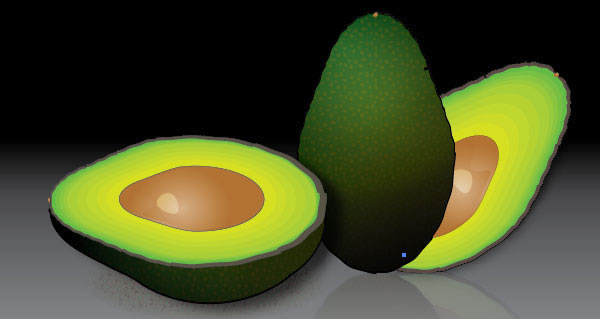 Create a Stylized Avocado