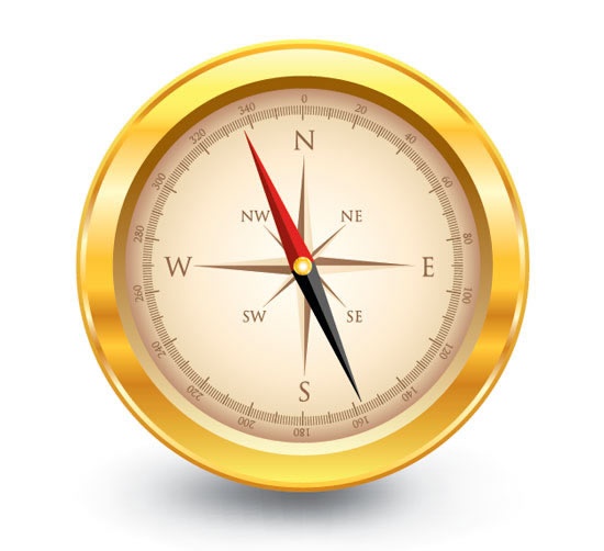Create a Golden, Vector Compass