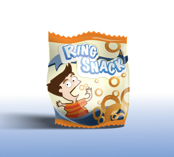 Turn a Client Approved Snack Label into a 3D Looking Snack Pack