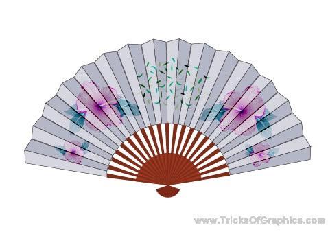 Drawing a Chinese Fan