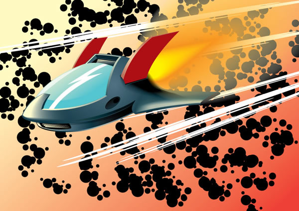 Create a Rocketing, Vector Aircraft Shuttle
