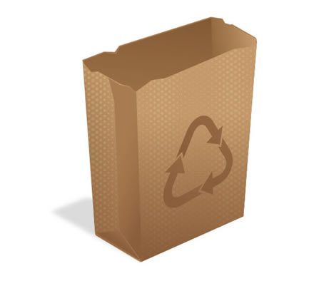 How to Create a Recycling, Paper Bag Icon