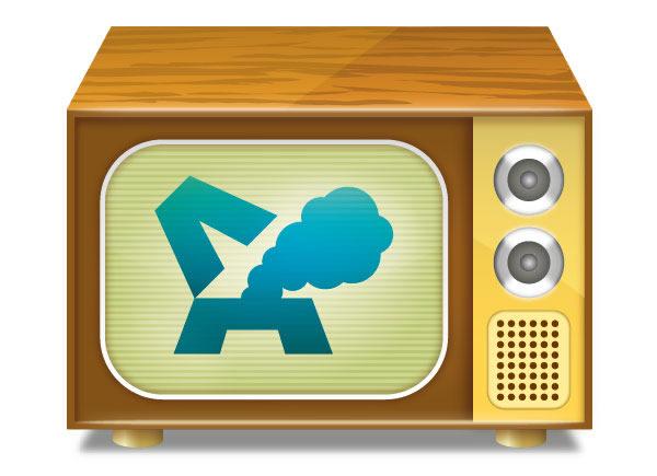 Create a Vintage TV Set Icon
