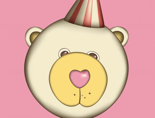 Cute Retro-Flavored Teddy Bear with the Gradient Mesh Tool