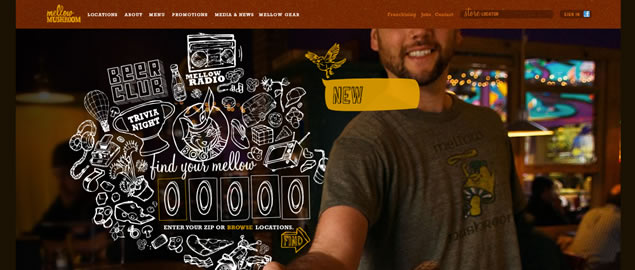 large fullsize photo image background web design inspiration Mellow Mushroom