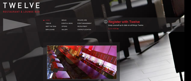 large fullsize photo image background web design inspiration Twelve Restaurant